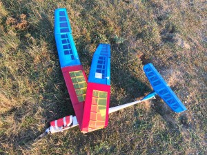 crash avion rc