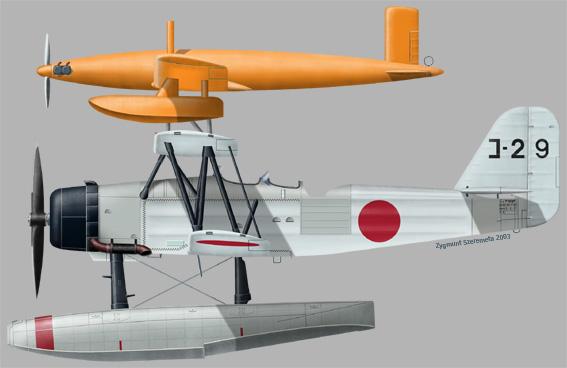 MXY4-hydravion radiocommandé-avion cible-target drone