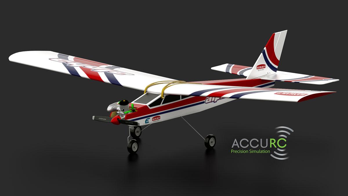L'Alpha 40 dans AccuRC, simulateur d'avion radiocommandé