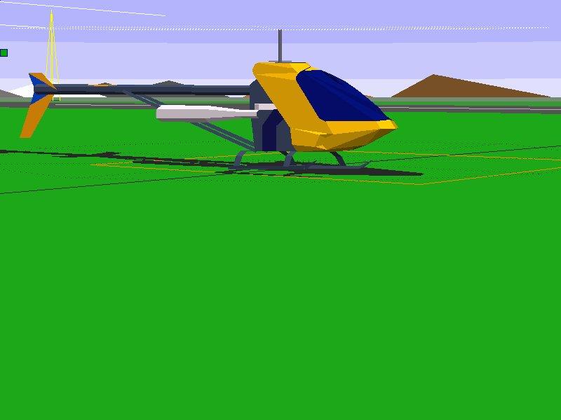 simulateur hélicoptère rc vintage