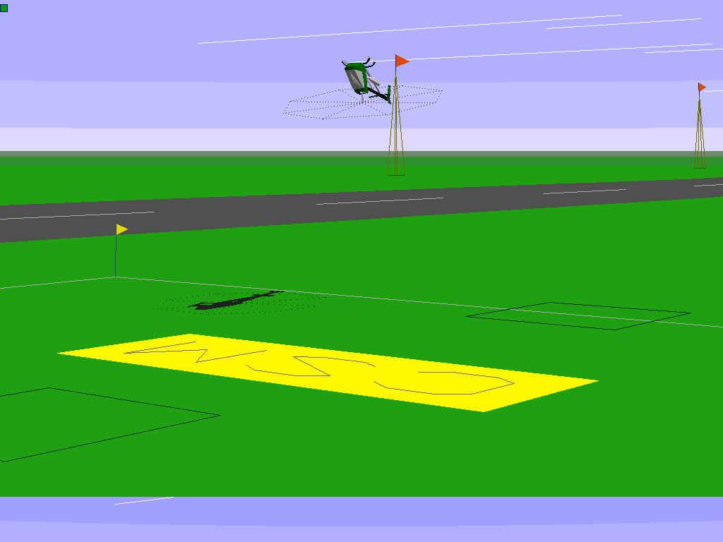 simulateur hélicoptère ancien