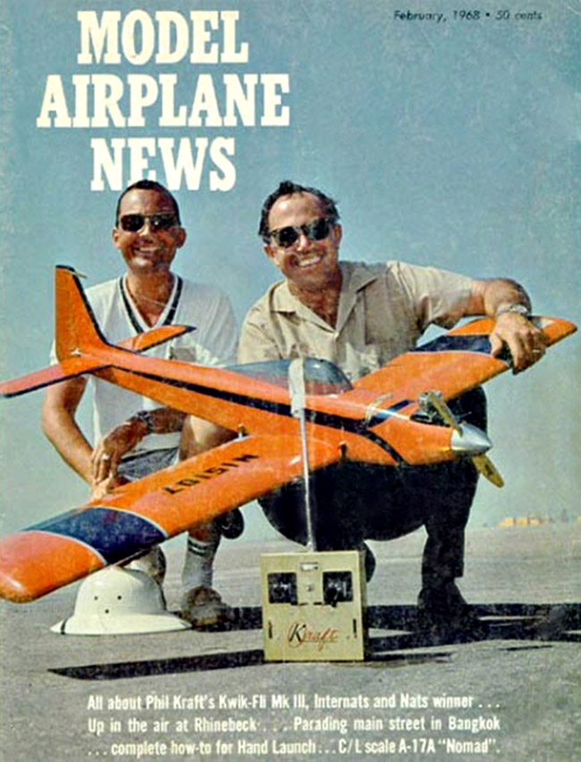 Model Airplane News February 1968_Kwik Fli III_Phil Kraft