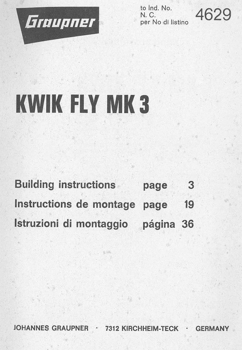 Notice Kwik Fly Mark 3_Graupner_4629