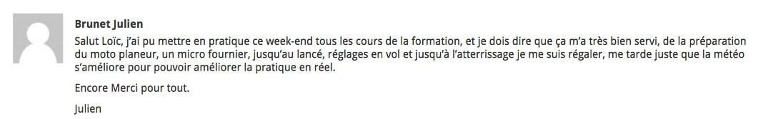 Témoignage client Julien