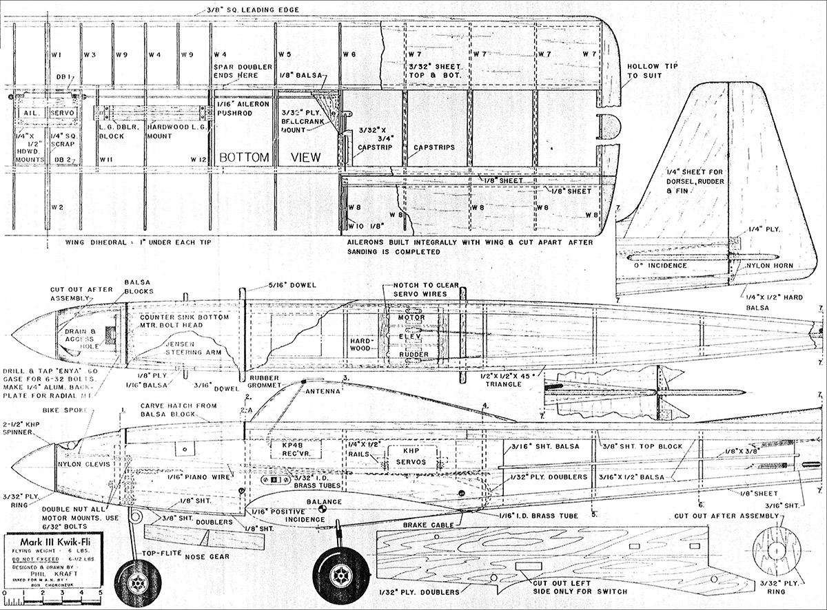 plan originaux Kwik Fli III