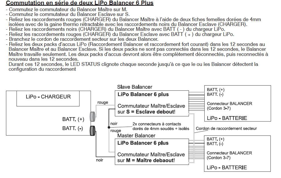 Graupner_3065_LiPo_Balancer_6_Plus_en série