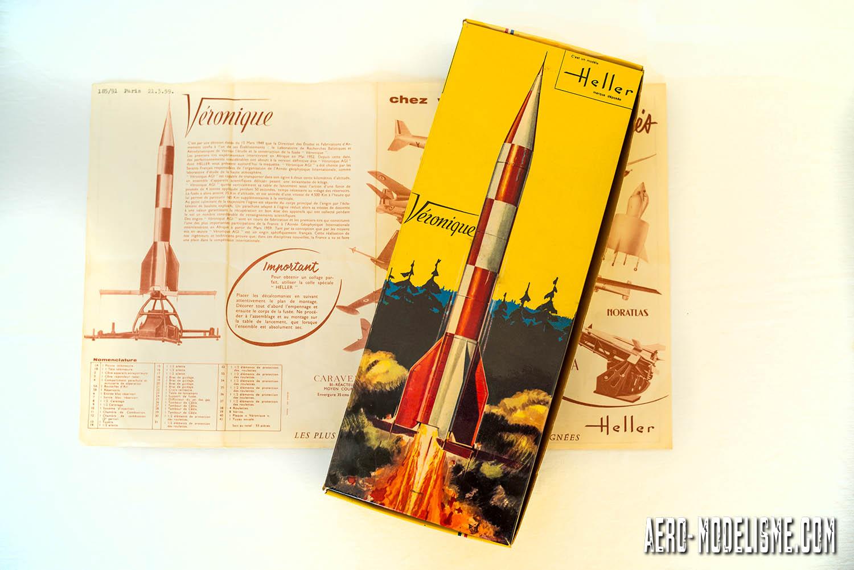 Boite Heller de 1959 de la fusée Véronique