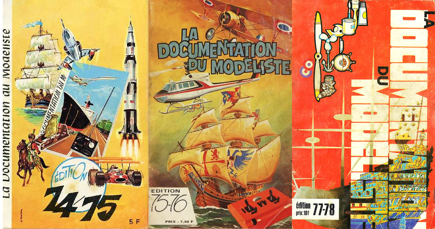 """À la source des inventions"" : catalogues 1974/1975, 1975/1976, 1977/1978 - La documentation du modéliste."