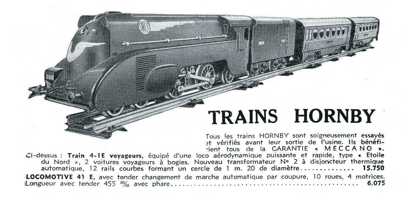 La locomotive Hornby 41-E dans le catalogue de La Source des Inventions.