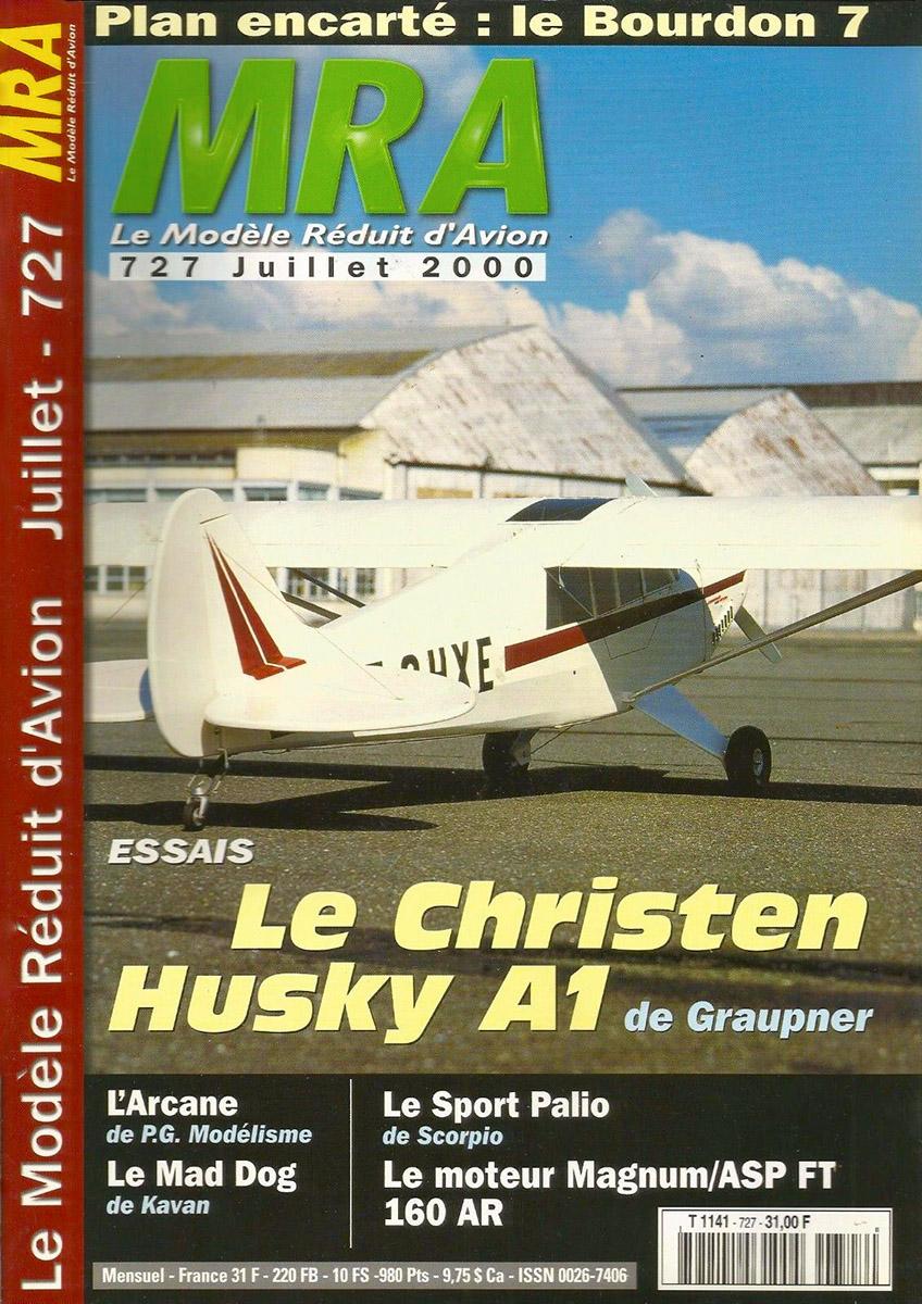 MRA n°727, juillet 2000 avec le Christen Husky A1 de Graupner en couverture