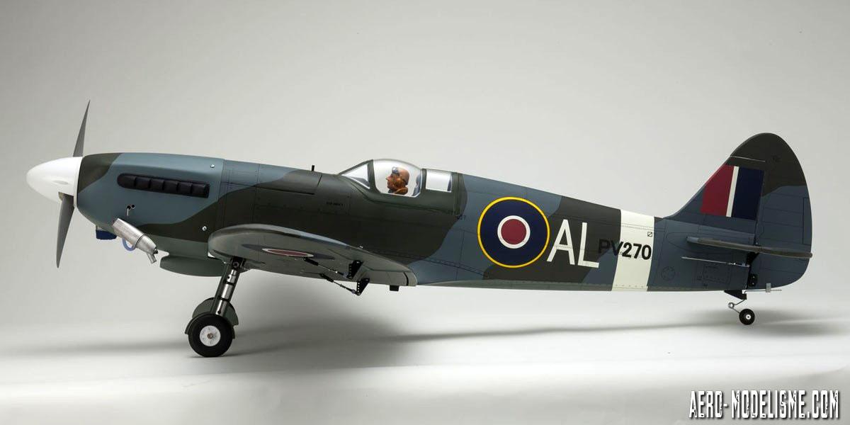 Vue latŽrale du Spitfire Mk.V thermique de chez Kyosho