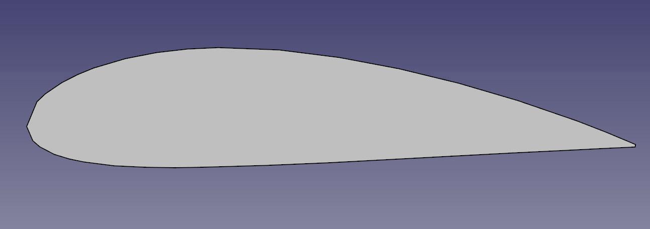 Facettes bien visible lors de l'import. L'outil spline va permettre d'obtenir un profil exact.