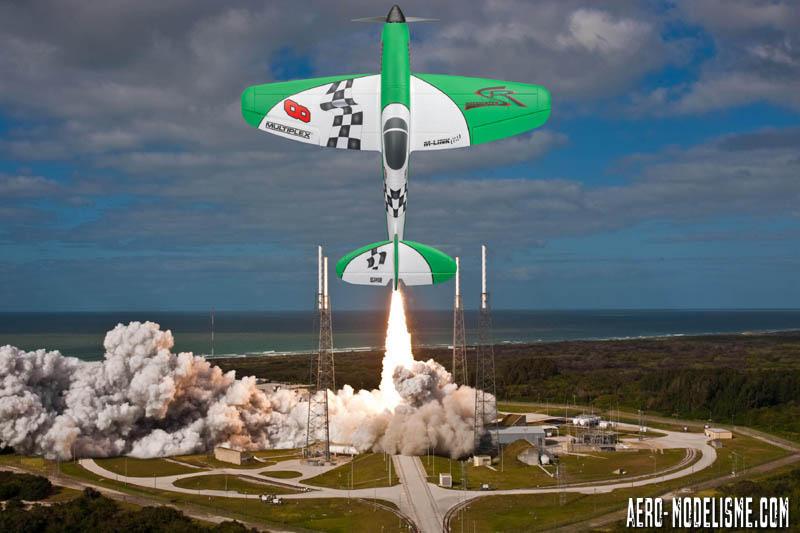 Décollage vertical pour notre Dogfighter à Cap Canaveral ! Un coup à être embauché par la NASA ça !