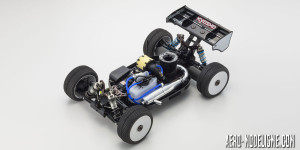 L'intérieur du Kyosho INFERNO MP9 TKI4 10th Anniversary Special Edition