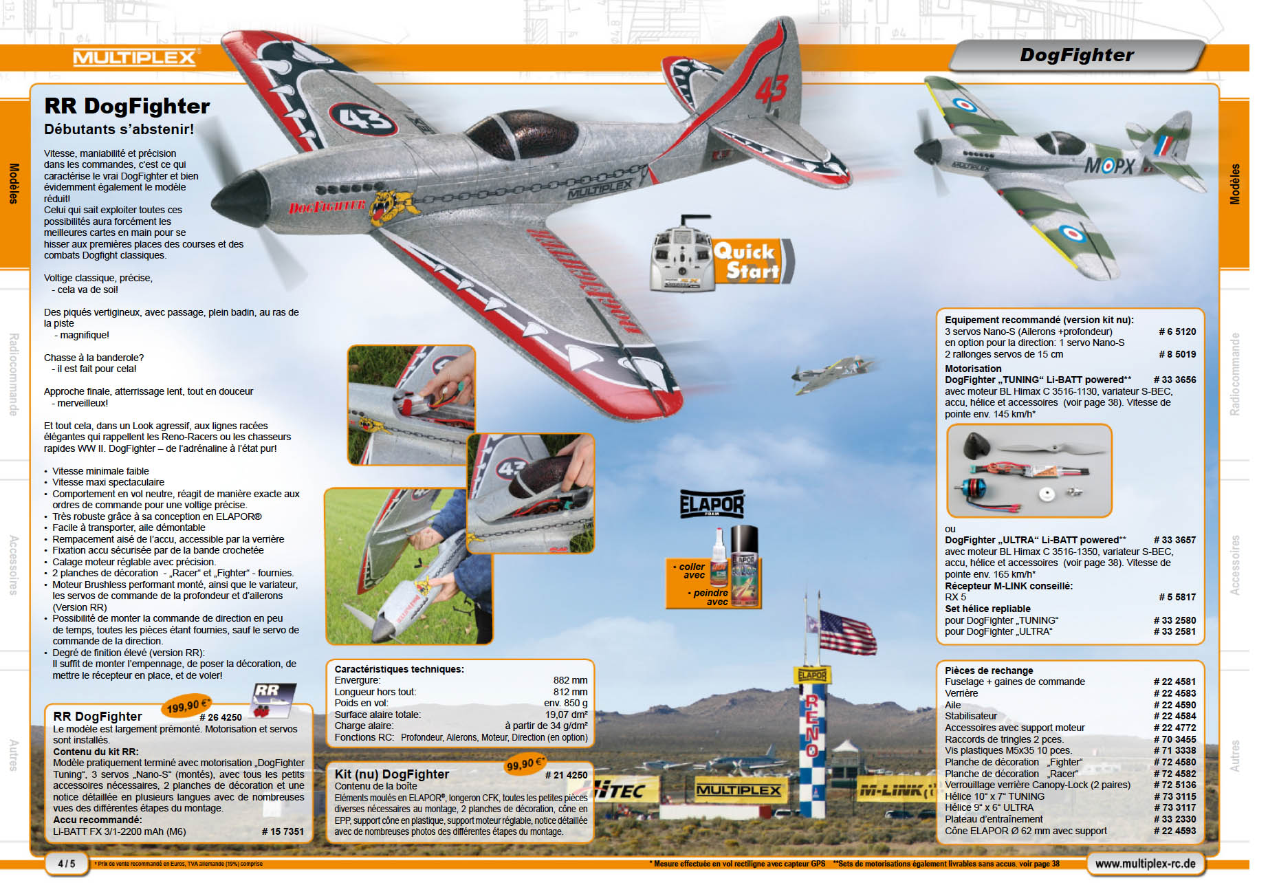 Le Dogfighter dans la catalogue 2011 de Multiplex