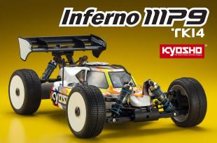 Kyosho Inferno MP9 TKI4 : 4x4 radiocommandé thermique taillé pour la course