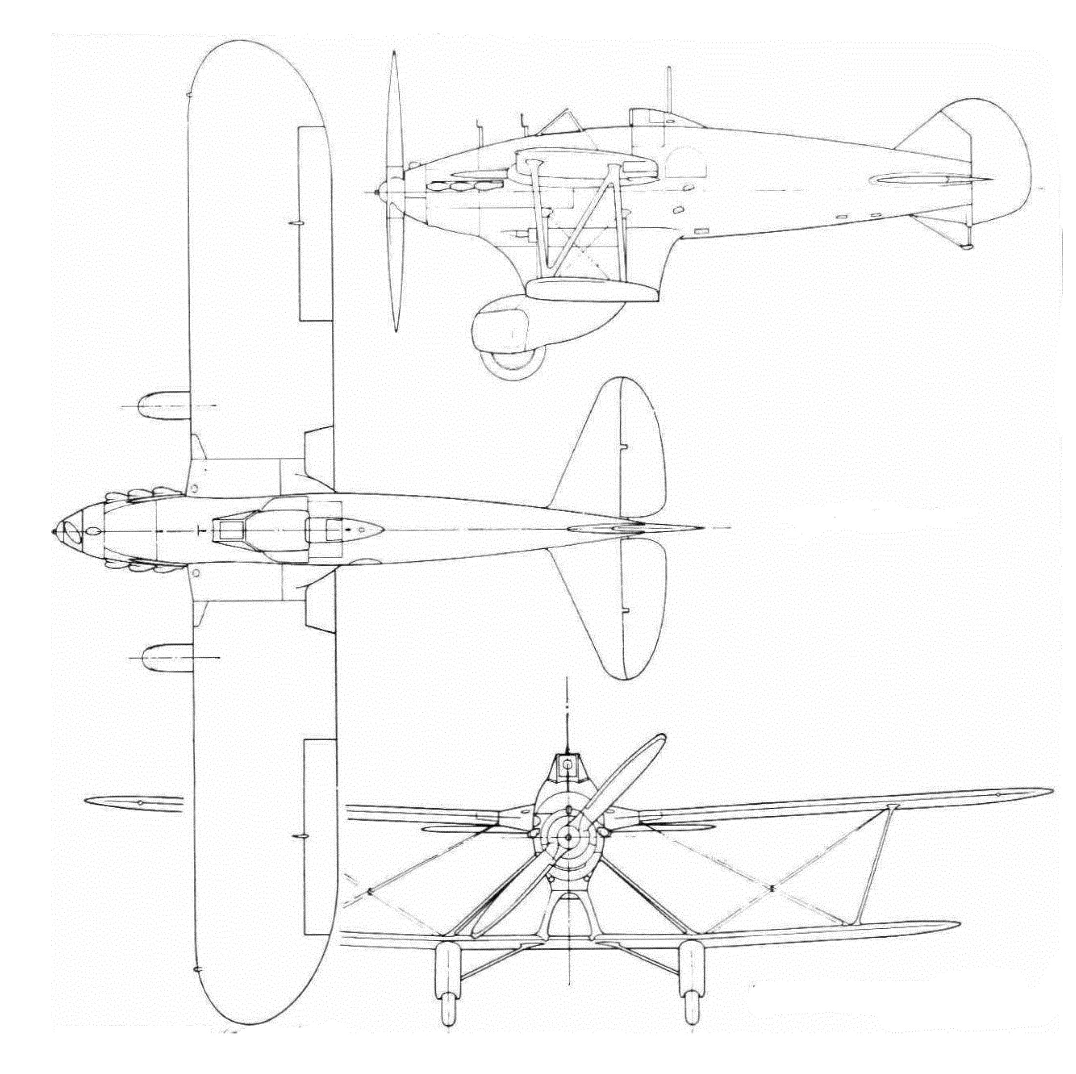 Les plans du Blackburn F.7