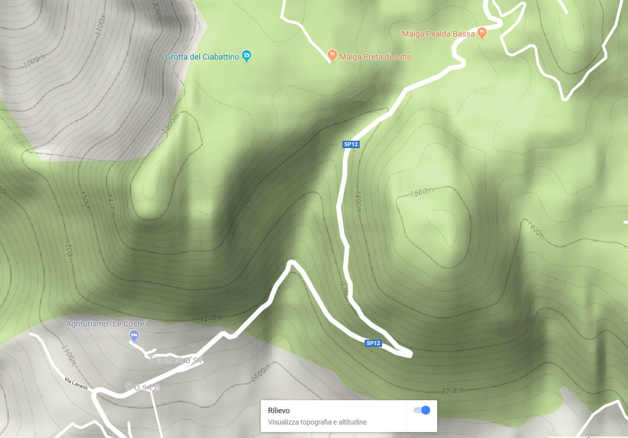 Carte des spots de Corno d'Aquillo et de Corno Mozzo