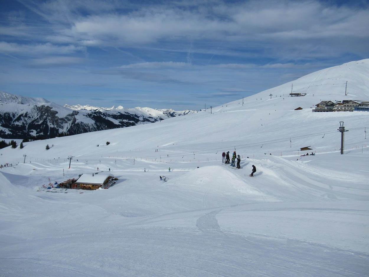 La pente Ouest sous la neige.