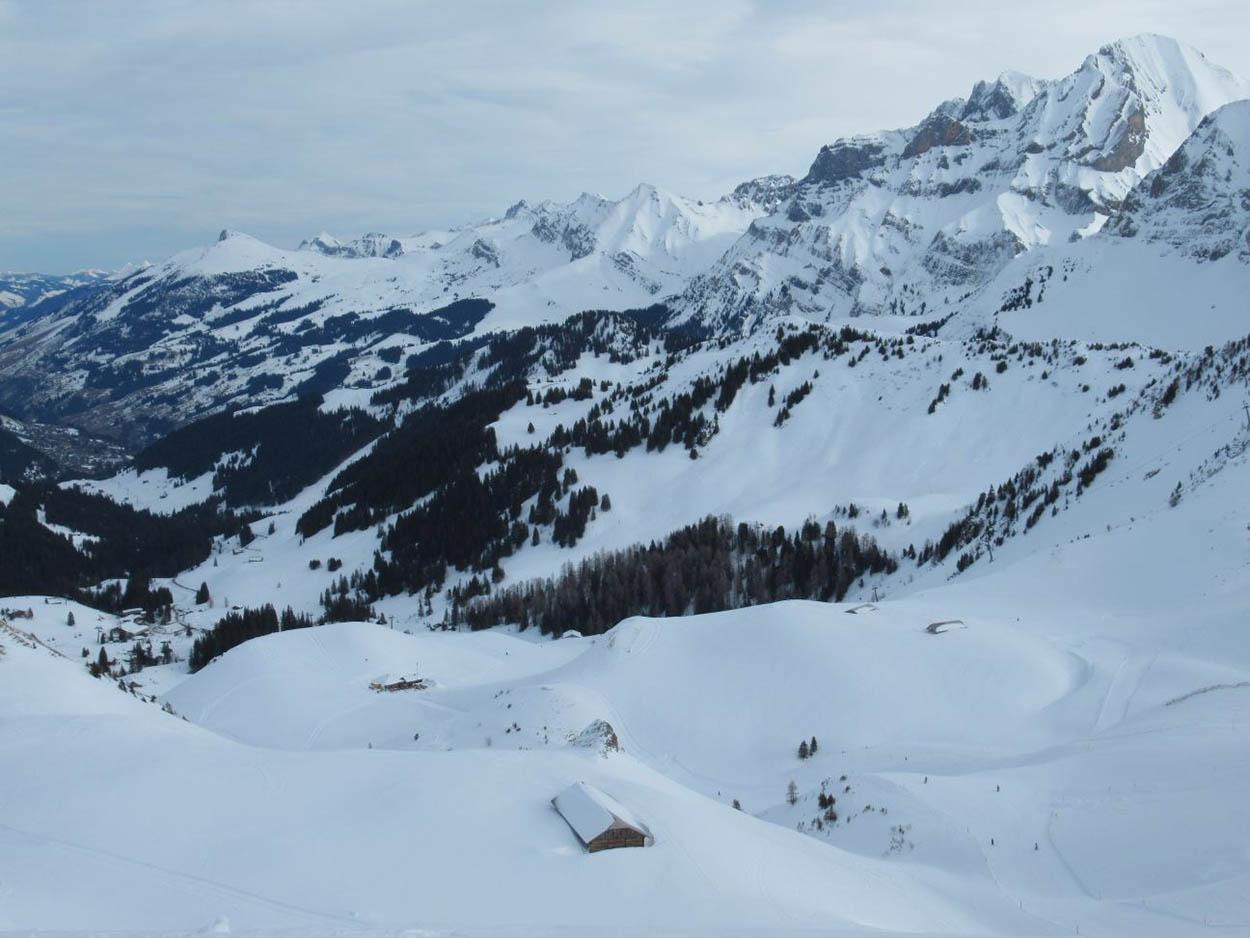 La pente Est sous la neige
