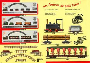 """Extrait de catalogue Jouef. Decauville """"un amour de petit train"""""""