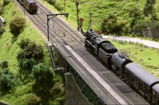 Modellbundesbahn, un réseau de trains électrique HO allemangne. Source chaine youtube : Piletum TV