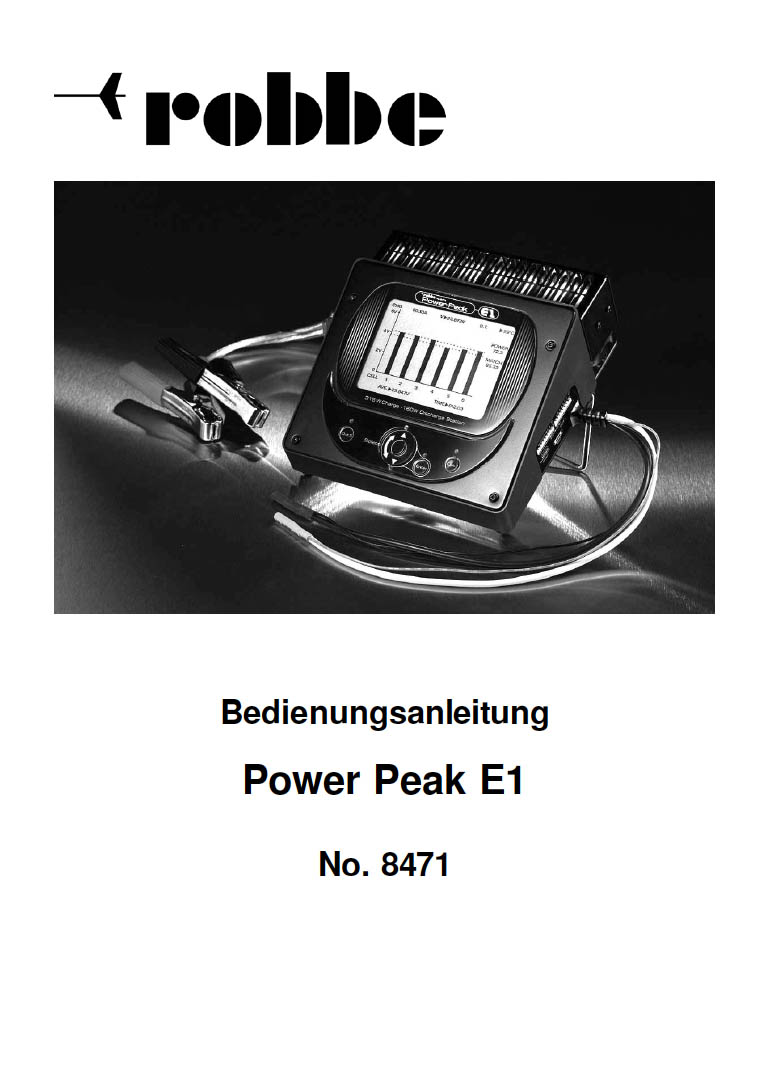 Notice PDF chargeur Robbe Power Peak Eternity