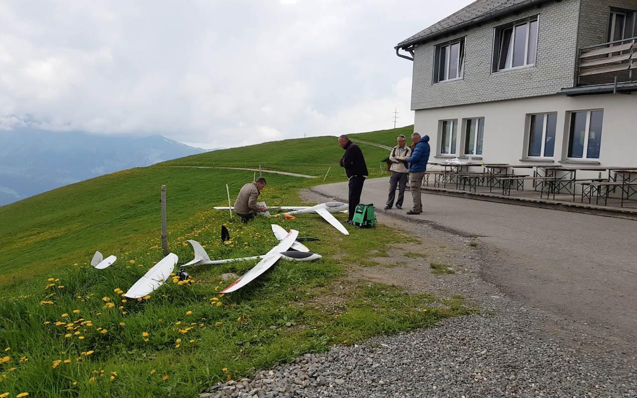 Vol de pente planeur rc Suisse Hahnenmoos