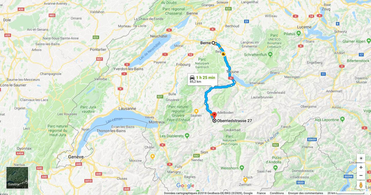 site de vol de pente en Suisse