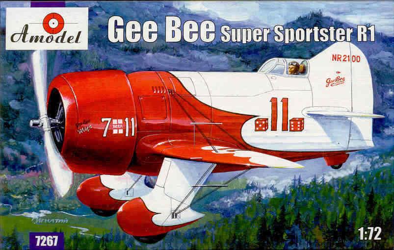 Maquette du Gee Bee R1 au 1/72ième de chez Amodel