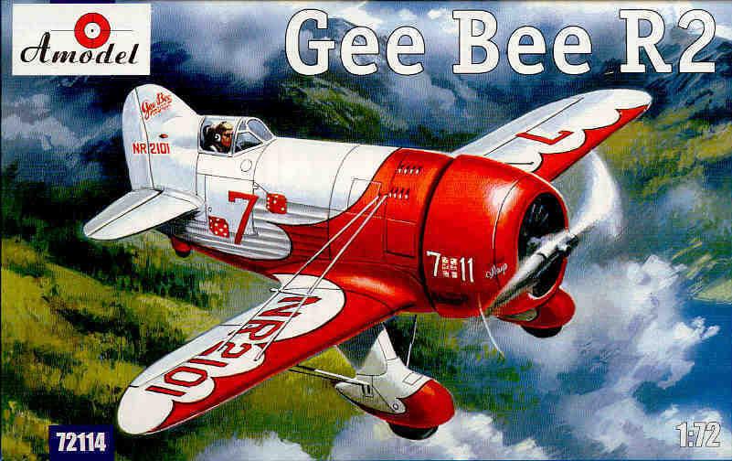 Maquette du Gee Bee R2 au 1/72ième de chez Amodel