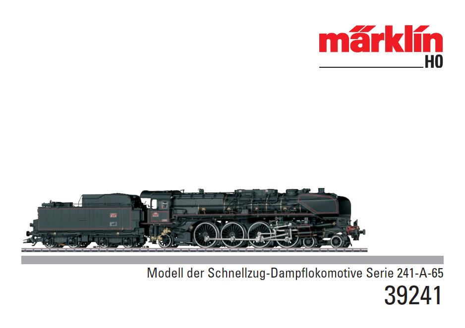 Notice de la Märklin 39241