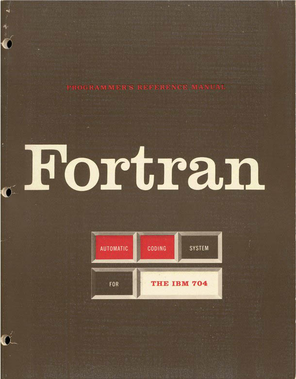 Le langage FORTRAN.