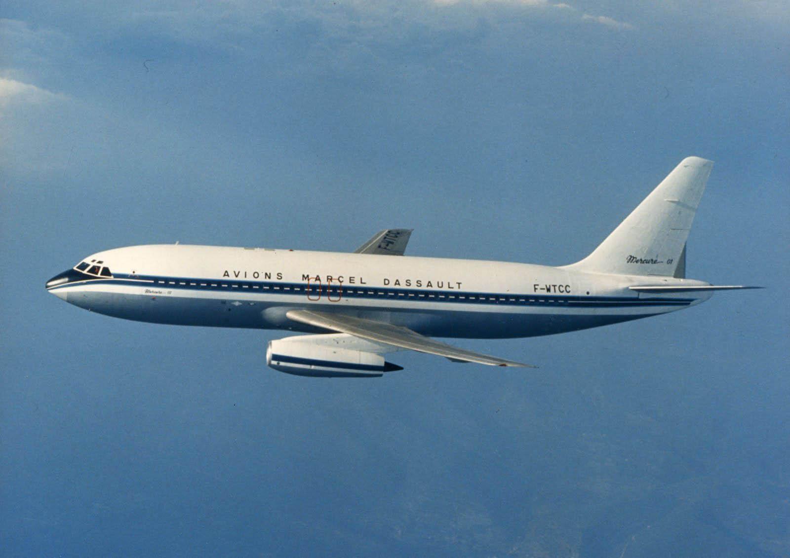"""Le Mercure, """"avions Marcel Dassault"""" bénéficie des optimisations numériques des débuts de la CFAO."""