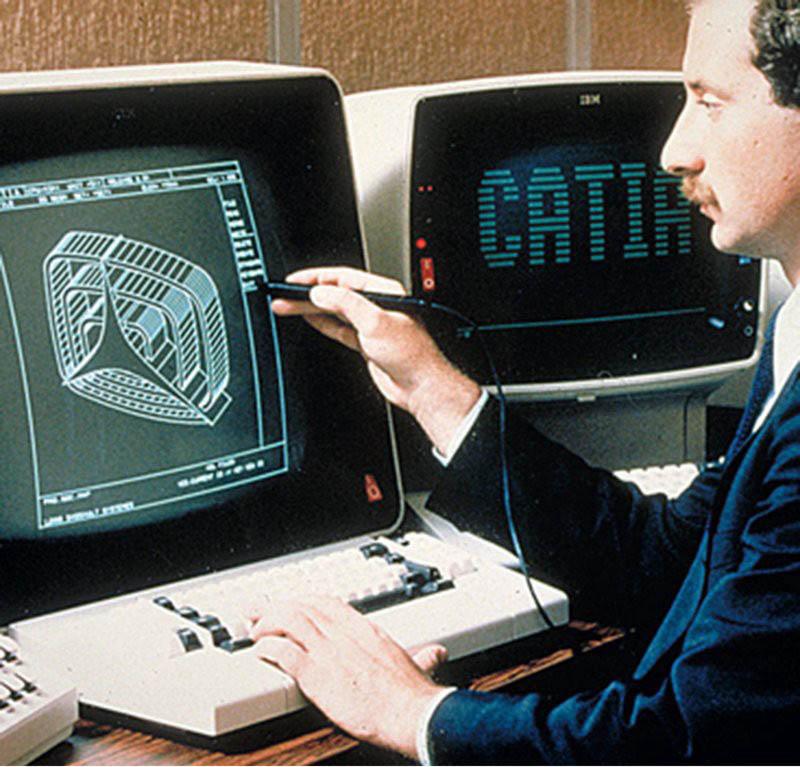 Catia V1 sur station IBM en 1982