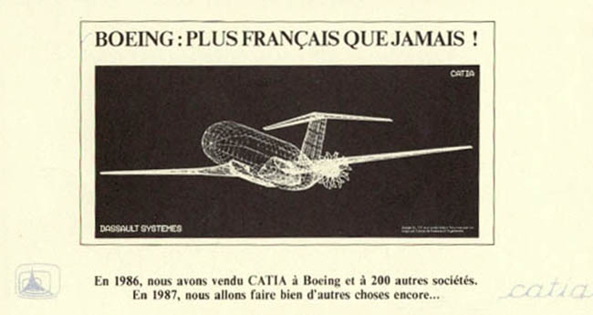 Publicité Catia / Boeing